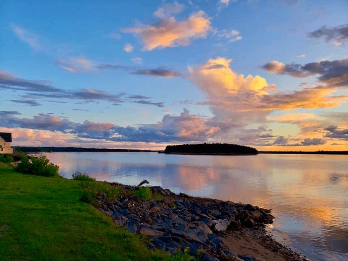 Beaubears Island at sunset