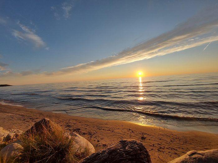 Sauble beach sunset picture