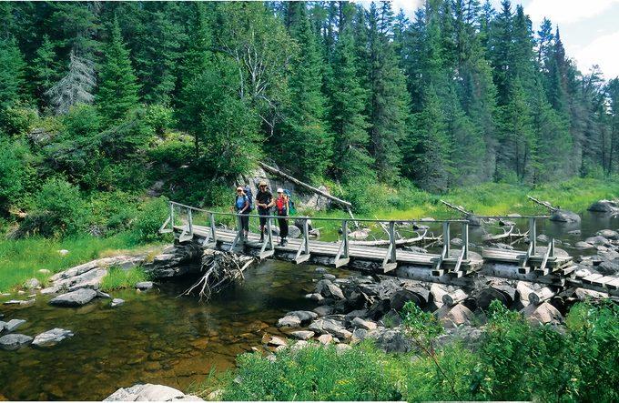Whiteshell Provincial Park - Bridge over Whiteshell river