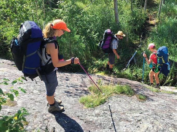 Whiteshell Provincial Park - Family hiking the Mantario Trail