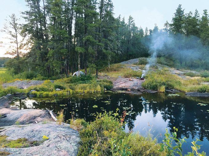 Whiteshell Provincial Park campsite