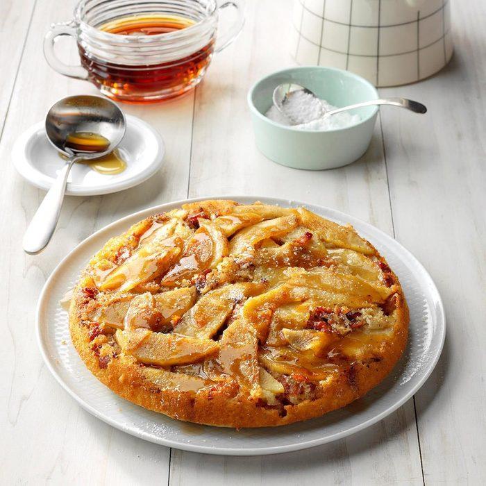 Upside-Down Apple Bacon Pancake
