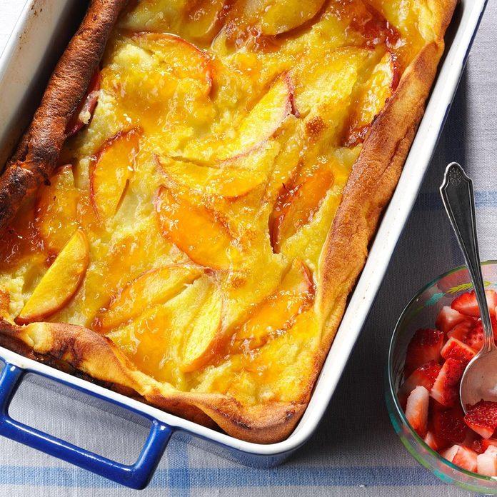 make-ahead breakfast recipes - Peachy Dutch Pancake