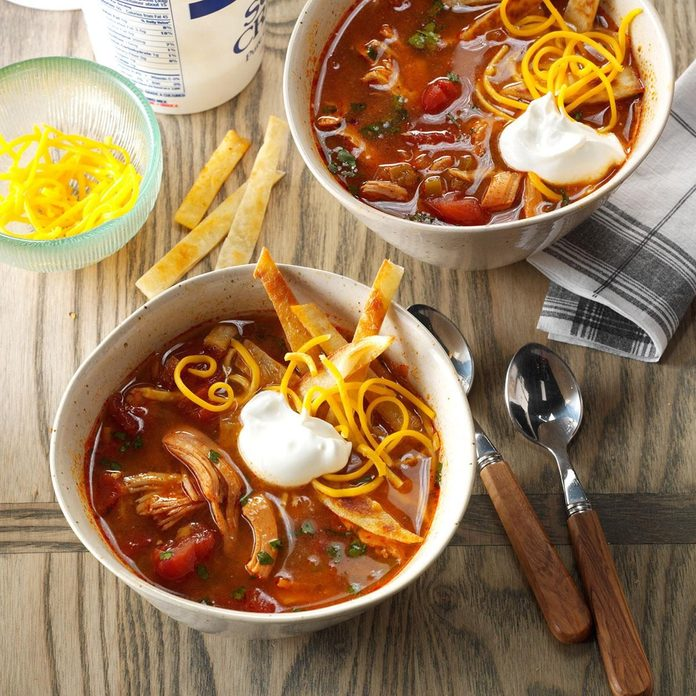 best fall recipes - slow-cooked chicken soup