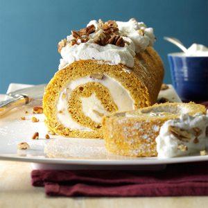 Pumpkin Ice Cream Roll