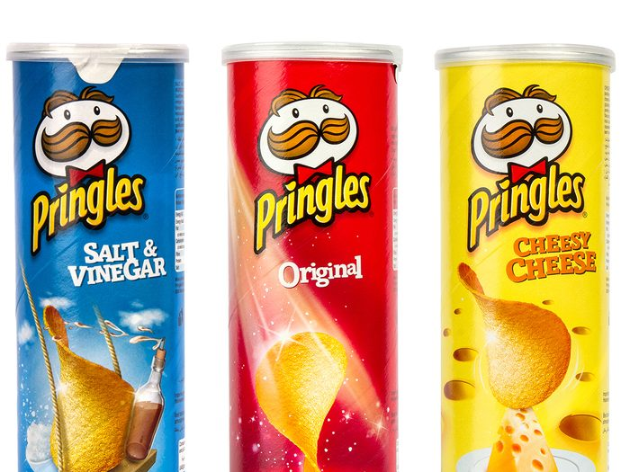 Man on Pringles can
