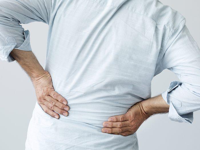 Medical mystery - senior man back pain