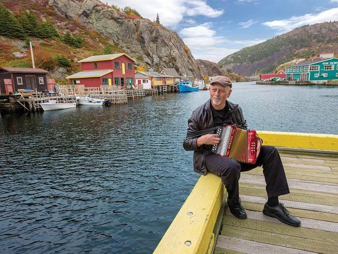 Newfoundland Sayings - Man Playing Accordion