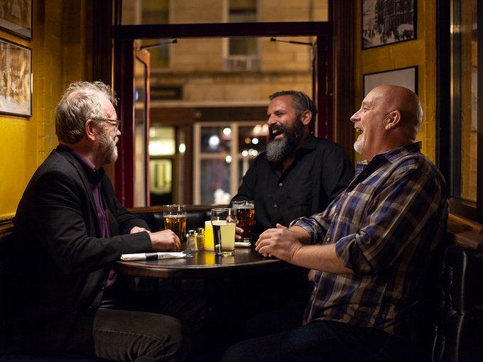 Newfoundland Sayings - Three Men Enjoying A Pint