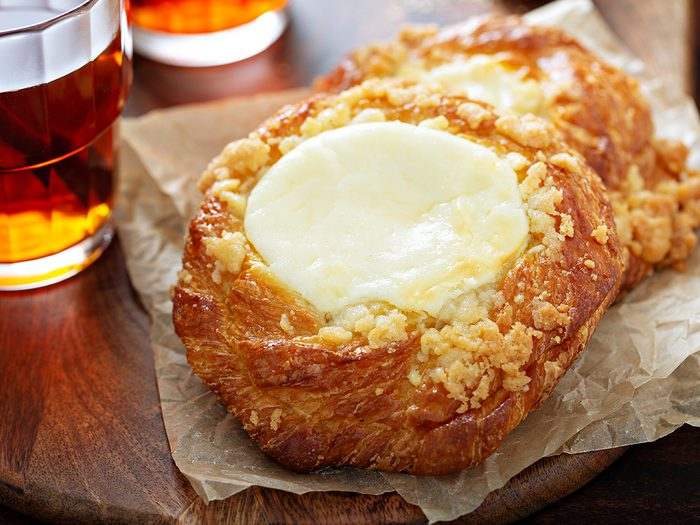 Things in your freezer you should toss - Cream cheese danishes with cinnamon spiced tea