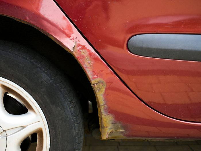 things you should never do to your car - Rust is eating away vehicles' wheel arch, problem in older cars