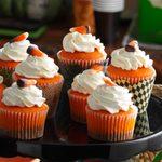 Chocolate Candy Corn Cupcakes