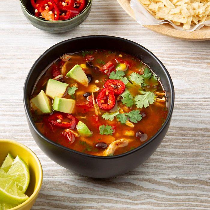 instant pot soup recipes - Pressure Cooker Chicken Tortilla Soup