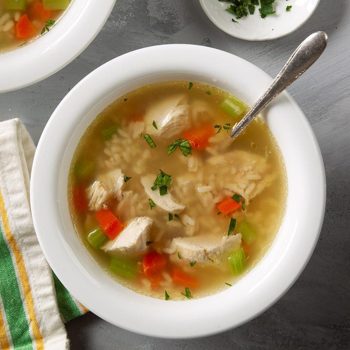 Pressure Cooker Homemade Chicken And Rice Soup Exps Ft20 250449 F 0130 1 2