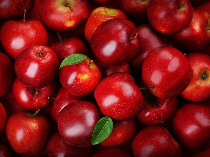 Bloating - a group of red apples