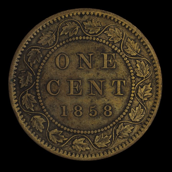 Canadian museums artefacts - First Canadian one cent coin
