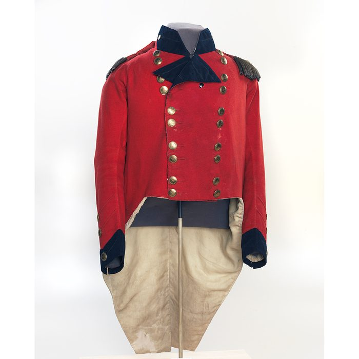 Canadian museums artefacts - Sir Isaac Brock's coat with bullet hole