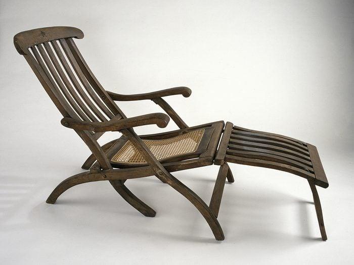 Canadian museums artefacts - Titanic Deck Chair