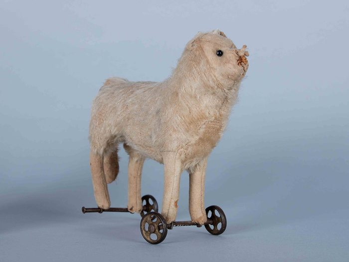 Canadian museums artefacts - Wheelie haunted toy at PEI Museum