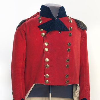 Canadian museums artefacts - Sir Issac Brock coat with bullet hole