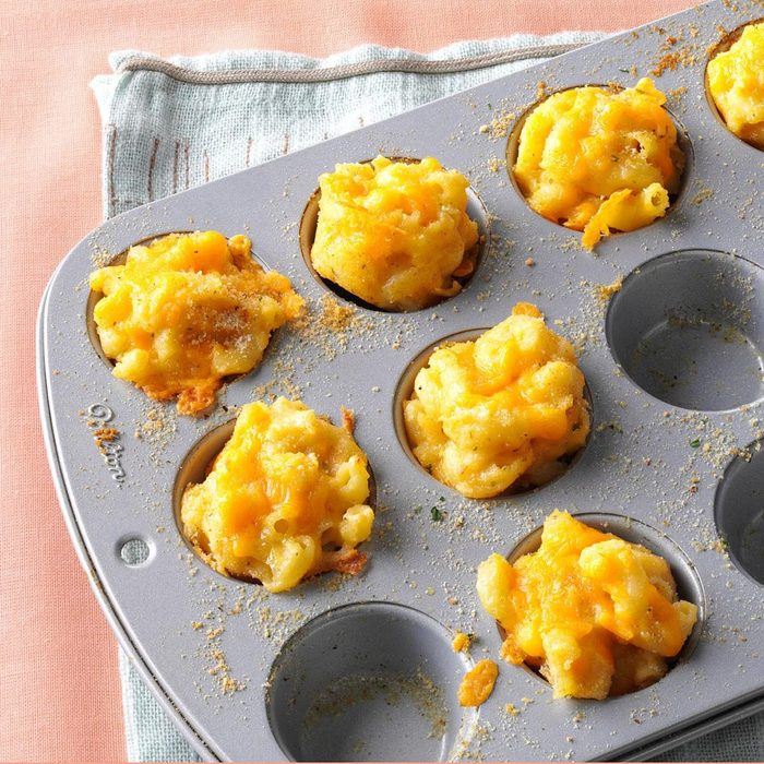 easy thanksgiving appetizers - mac and cheese bites