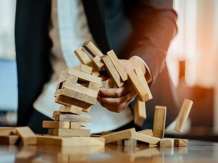 Rajen Ruparell business tips - building blocks falling