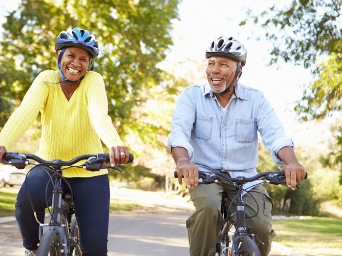 How to buy a bike - mature couple riding bicycles